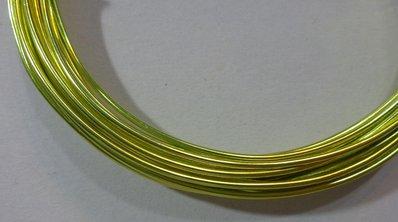 6 metri Filo Alluminio colore VERDE MELA 1.5 mm