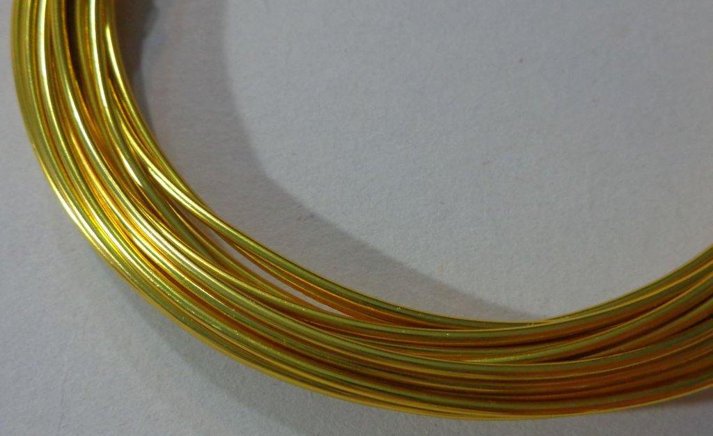 6 metri Filo Alluminio colore GIALLINO 1.5 mm