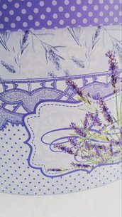 Scatola in cartone rigido vintage theme, lavanda provenzale