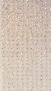 Strass rotondi bianco con adesivo, per decorazioni scintillanti