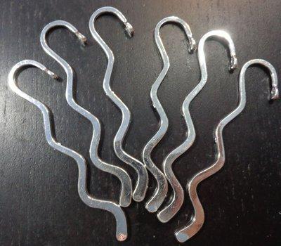 6 Basi Segnalibro Argento Tibetano 8.2 cm.