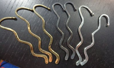 7 Basi Segnalibro Argento Tibetano 8.2 cm.