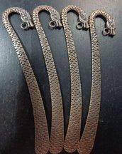 4 Basi Segnalibro Argento Tibetano 12.3 cm.