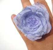 Anello fiore di malva - Light Mauve Flower Ring