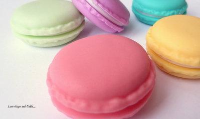 """Box regalo """"Macaron"""" (diametro circa 4 cm) (cod.nuovo)"""
