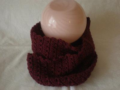 Sciarpa scaldacollo lana Rosso Bordeaux