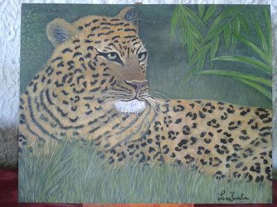 Quadro Leopardo dipinto a mano