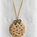 Parure collana e orecchini in pasta polimerica - Cookies