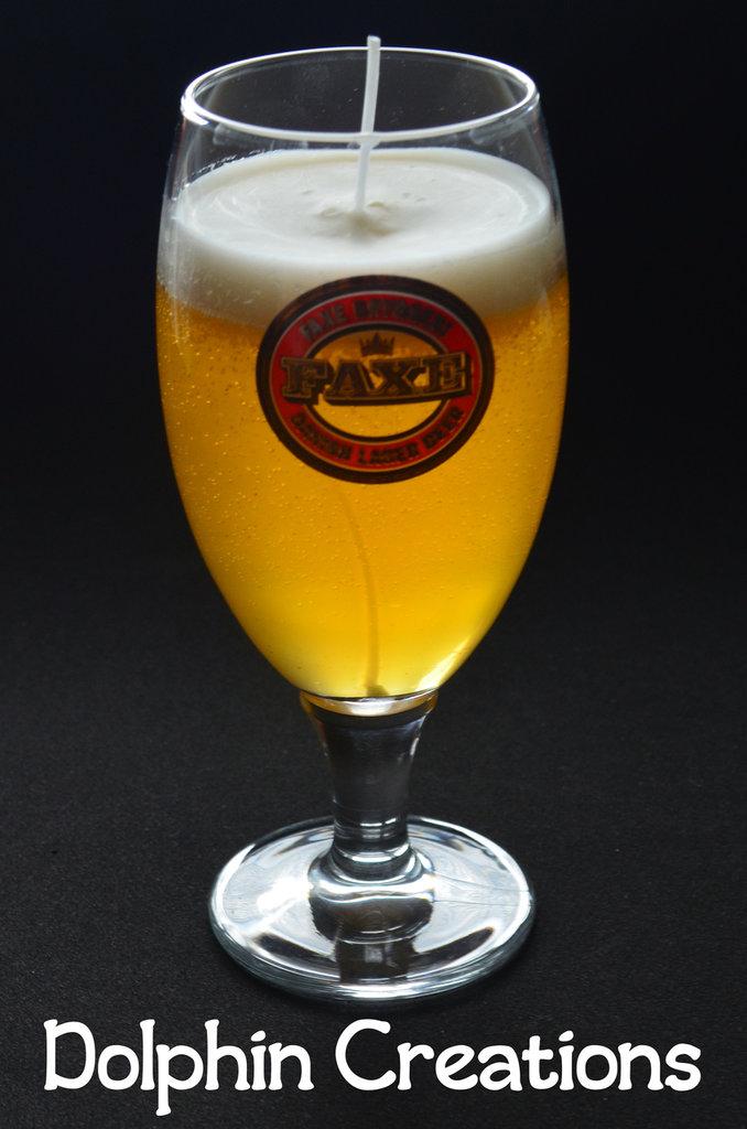 """Candela profumata birra """"Faxe"""""""