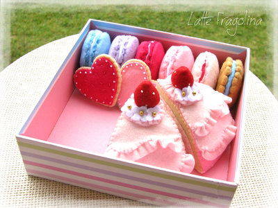 Un set di dolci assortiti per il Tea Party