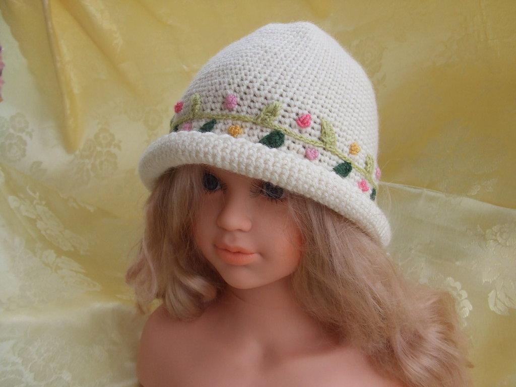 Cappello Lana Uncinetto Bimba Bambini Abbigliamento Di Maglie