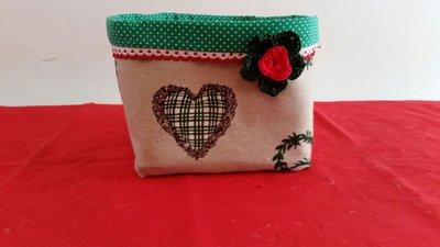 Cestino del pane / tovagliette/ portatovaglioli Green Hearts