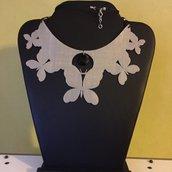 Collana farfalla con swarosky