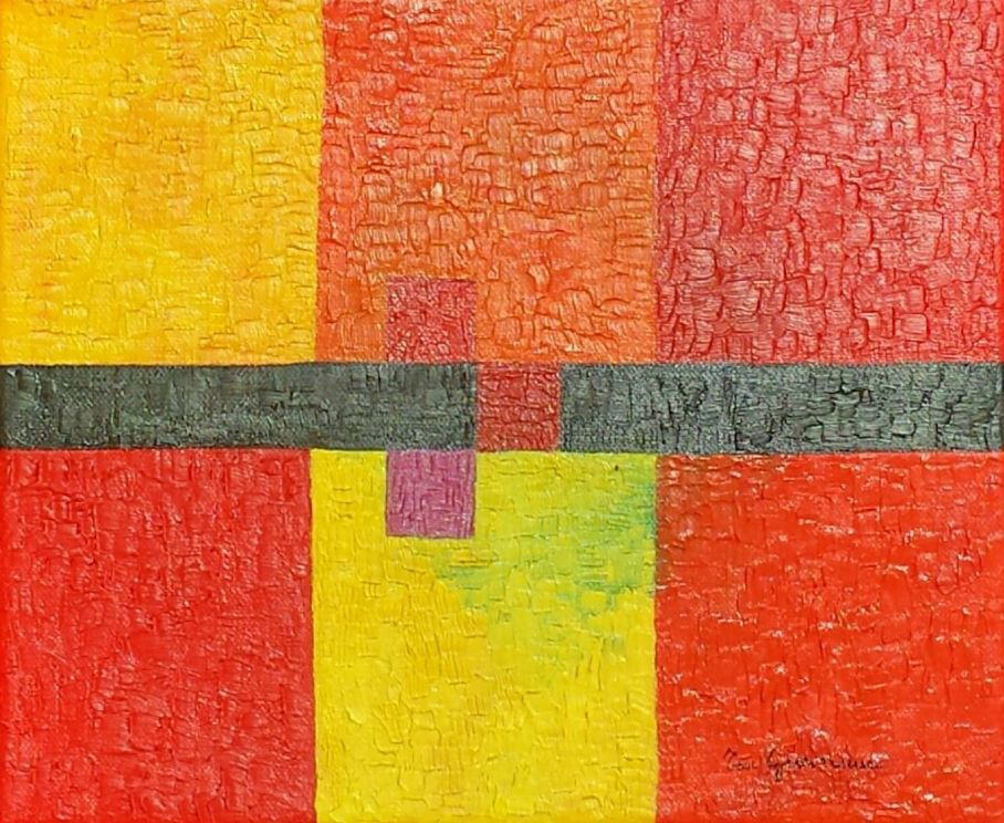 Quadro moderno, Dipinto, geometrico, contemporaneo, simmetria, linee, quadrati