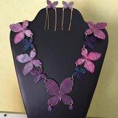 Collana farfalla sagomata