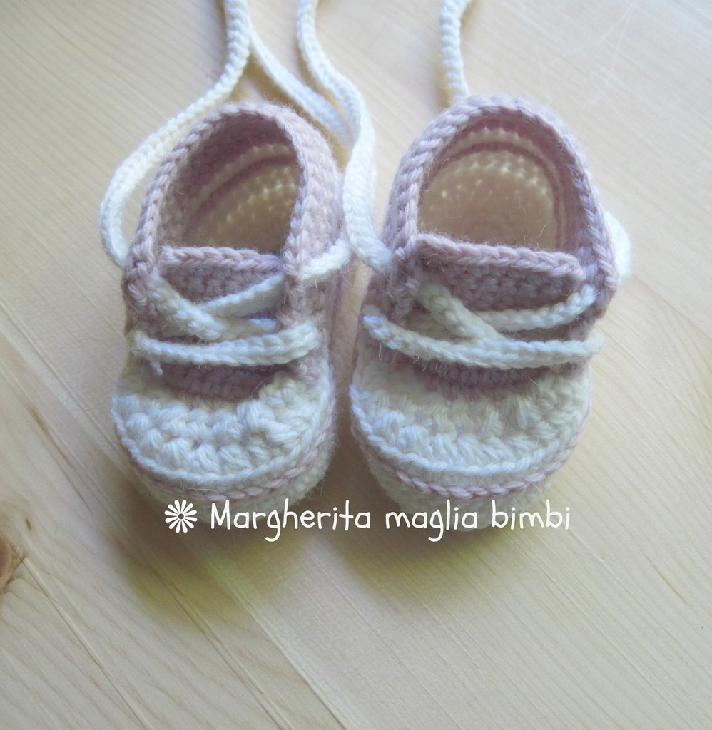 scarpine tennis sneakers bianche e rosa bambina in pura lana e alpaca