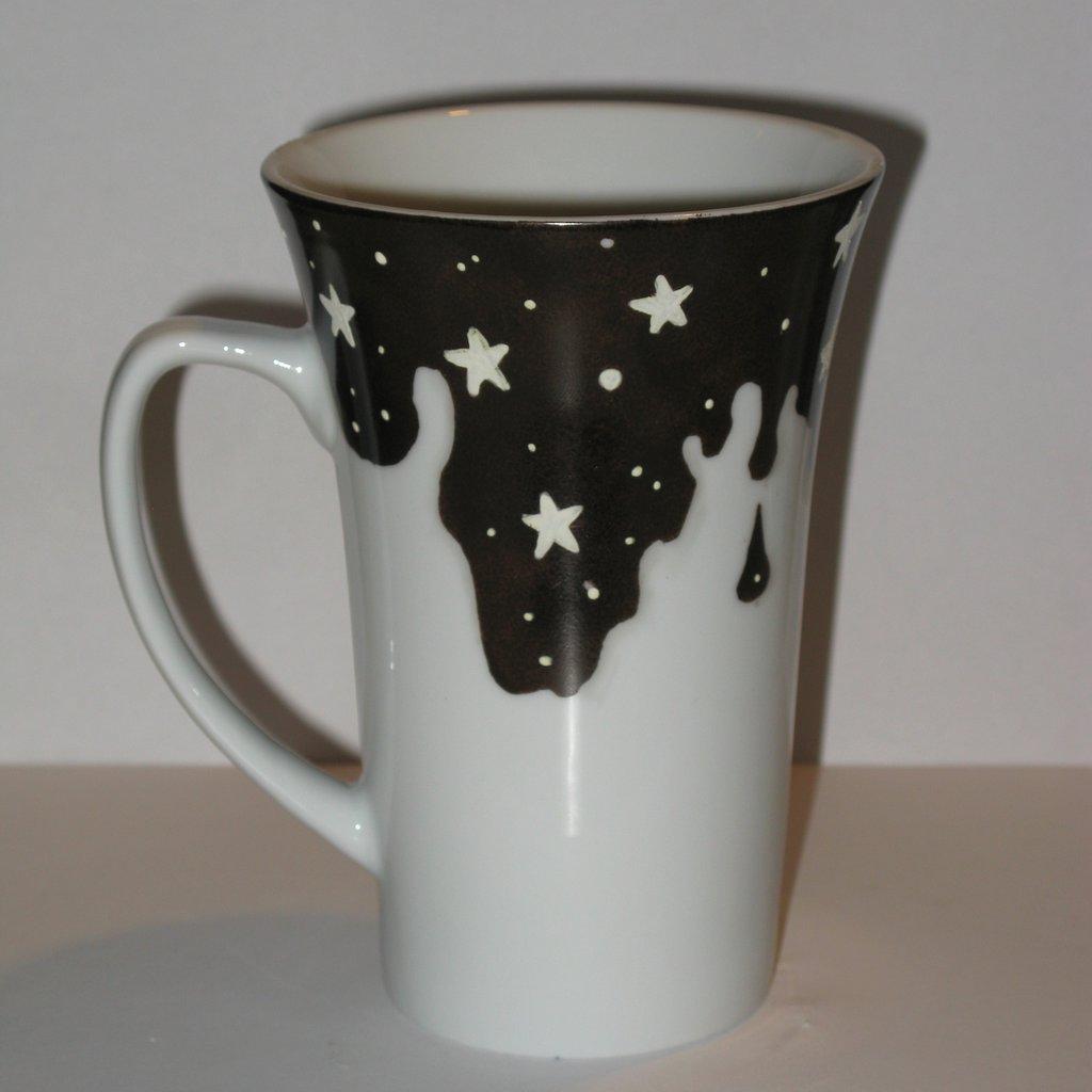 Tazza cioccolato e stelle