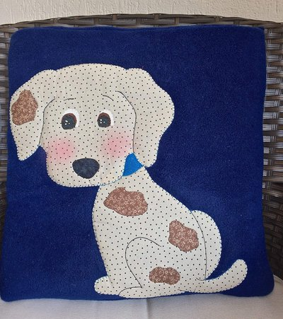 cuscino quillow cagnolino blu - un cuscino con dentro un plaid