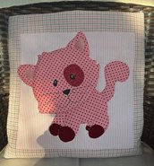 cuscino quillow gatto rosa - un cuscino con dentro un plaid