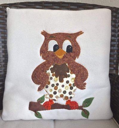 cuscino quillow gufo beige - un cuscino con dentro un plaid