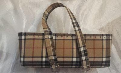 kit Fondo alto e coppia manici in tessuto scozzese per borse in fettuccia
