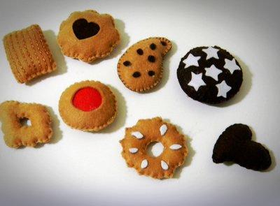 Biscottini golosi in pannolenci