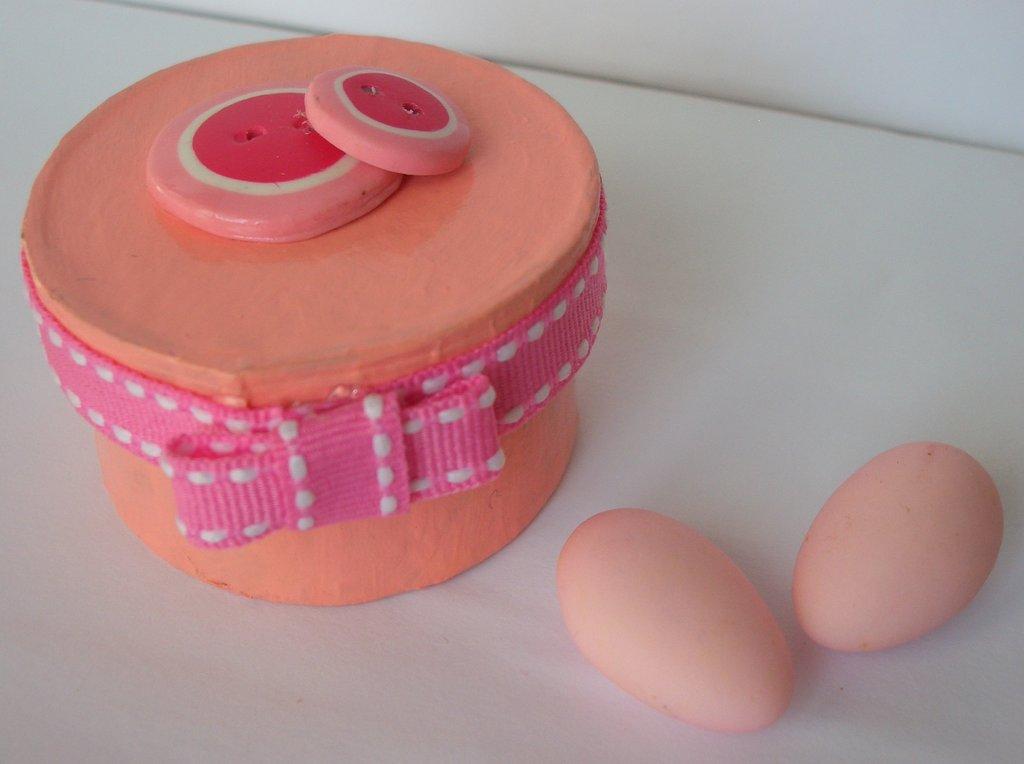 scatole porta confetti bottoni