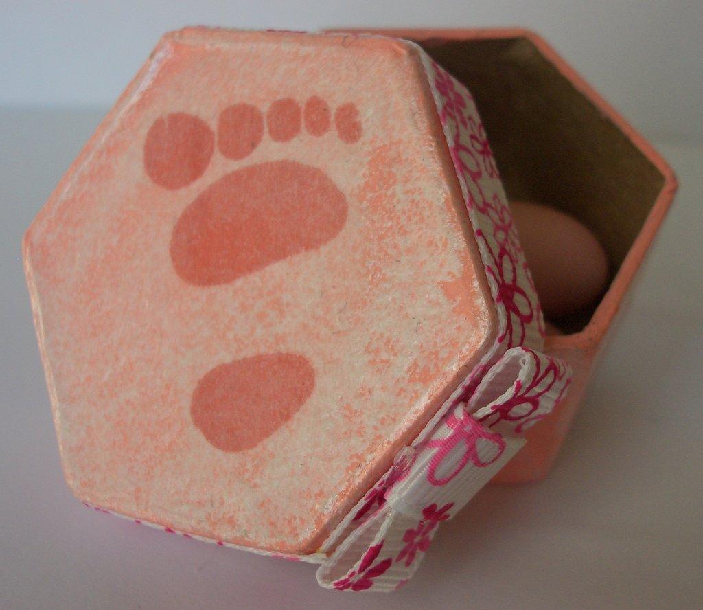 scatole porta confetti impronta lei