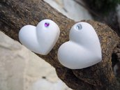 gessetti profumati a forma di cuore con strassino 2,5 cm
