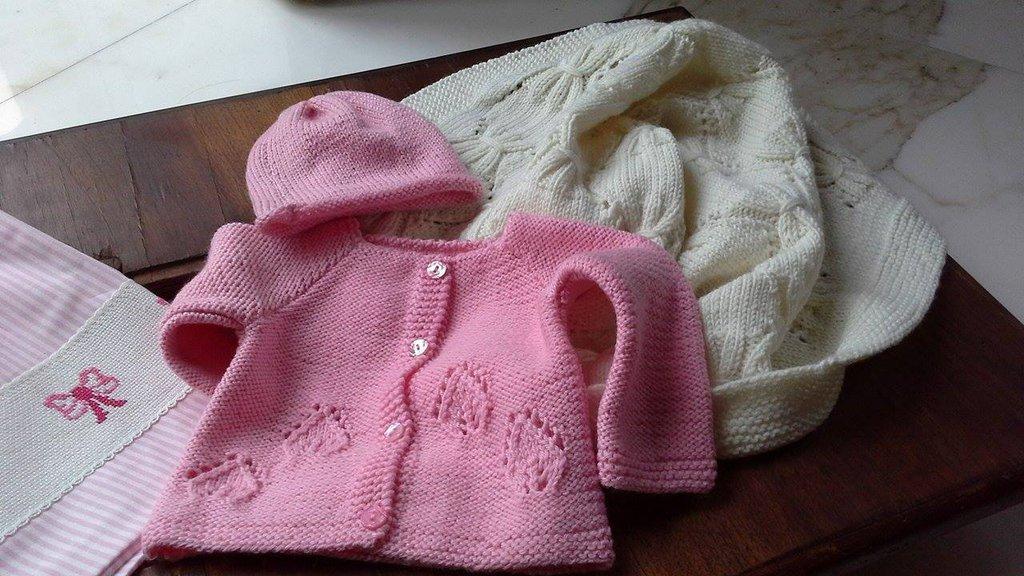 Golfino in pura lana per neonato/femminuccia