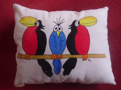 """cuscino dipinto """"tucani"""""""