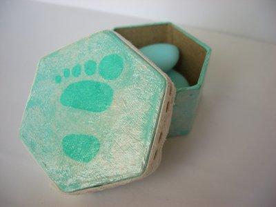 scatole porta confetti  impronta lui