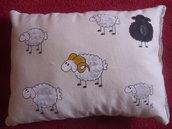 """cuscino dipinto """"pecore"""""""