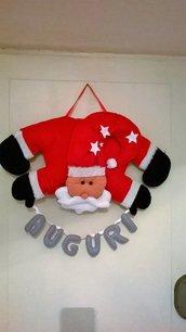 Decorazione per porta Babbo Natale