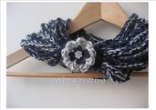 SALDI - Scaldacollo - collana (blu-grigio melange)