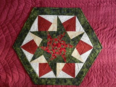 Centro esagonale patchwork (su ordinazione)