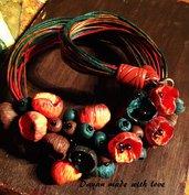 Collana  Boccioli Colori d'autunno