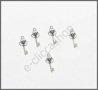 Charms ciondolo chiave, old style 5 pz