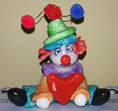 Clown in pasta di mais
