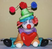 Clown in pasta di mais