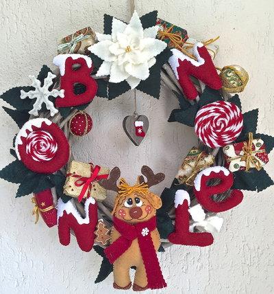 Natale - ghirlanda in legno Bon Noel