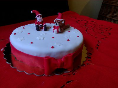 Dummy cake(torta da esposizione)tema Natale