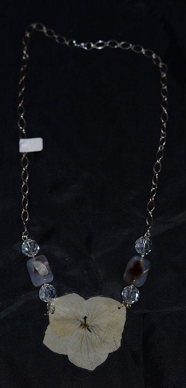 Collana Ortensia Pietre e Cristallo