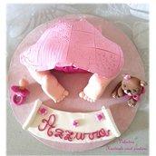 Cake topper sederino neonato