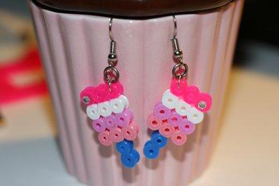 orecchini gelato hama beads