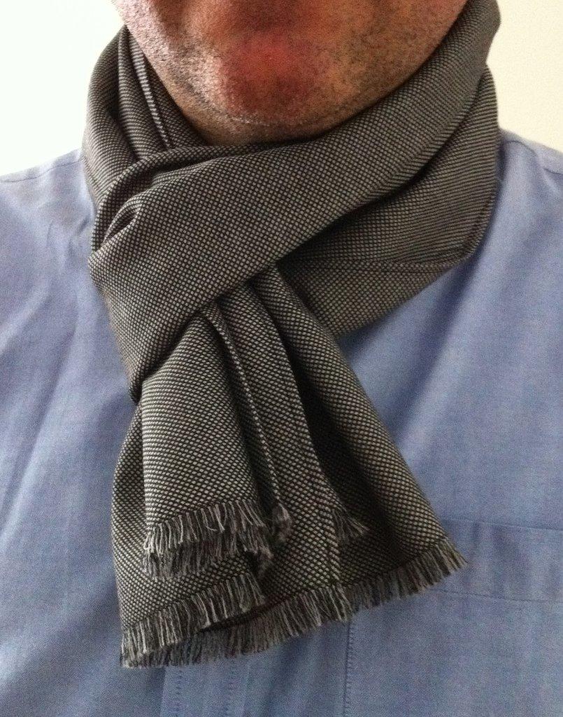 Sciarpa da uomo in fresco lana