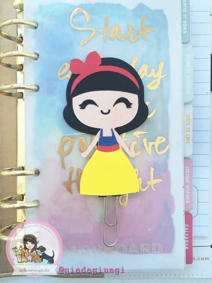 Paperpins lifeplanner-  Biancaneve