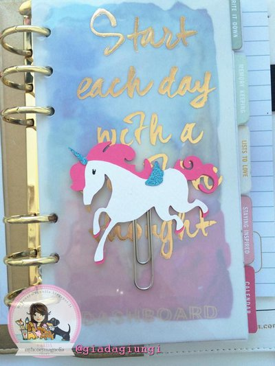 Paperpins lifeplanner- mini unicorno bianco
