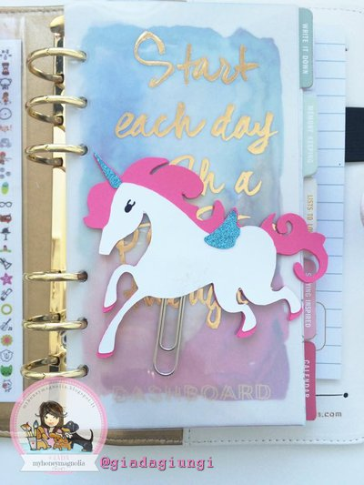 Paperpins lifeplanner-  Unicorno bianco