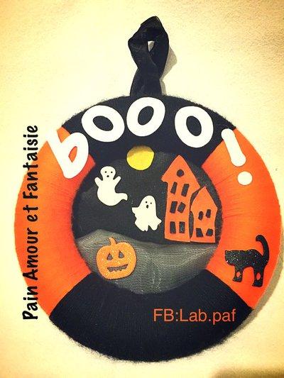 Ghirlanda di Halloween in pannolenci e pupazzetti in gomma